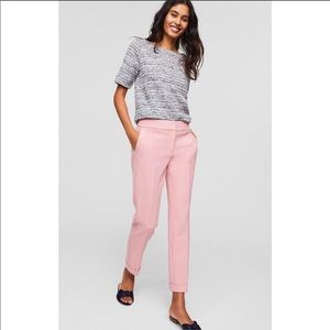 LOFT pink slim cuffed ankle pant, size 6P